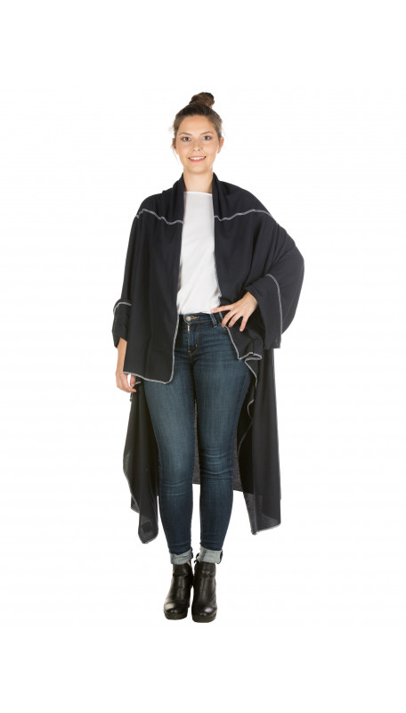 LOTalife Flip Coat Navy Blue